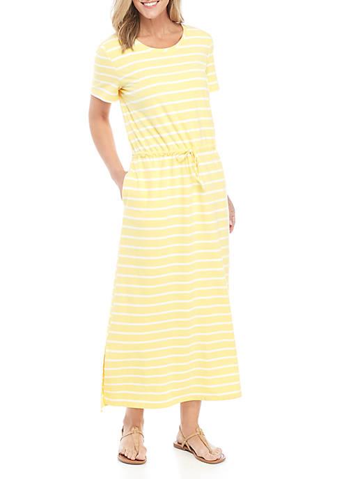 Womens Tie Waist Maxi Dress