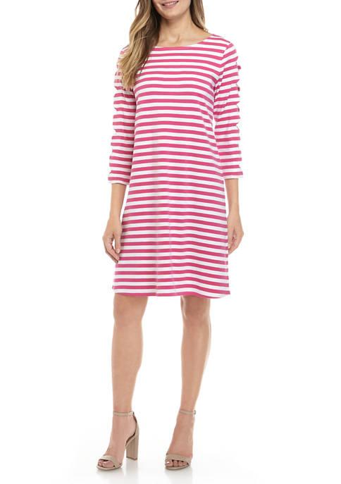 Kim Rogers® Womens Scallop Sleeve Dress