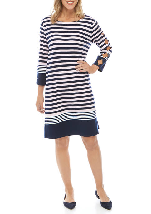 Womens Scallop Sleeve Dress