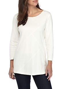 Criss Cross Texture T-Shirt