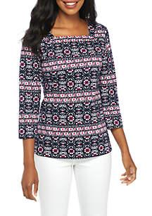 Three-Quarter Square Neck Shirt