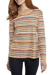 Long Sleeve Stripeline Top