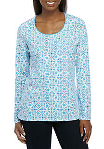Long Sleeve Star Patch Top