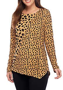 Long Sleeve Cheetah Print Top