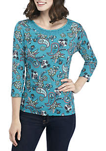 Neck Detail Solid Top