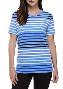 Short Sleeve Lush Stripe Tee