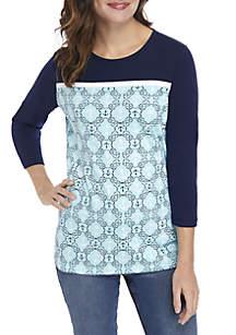 Anchor Print Knit Top