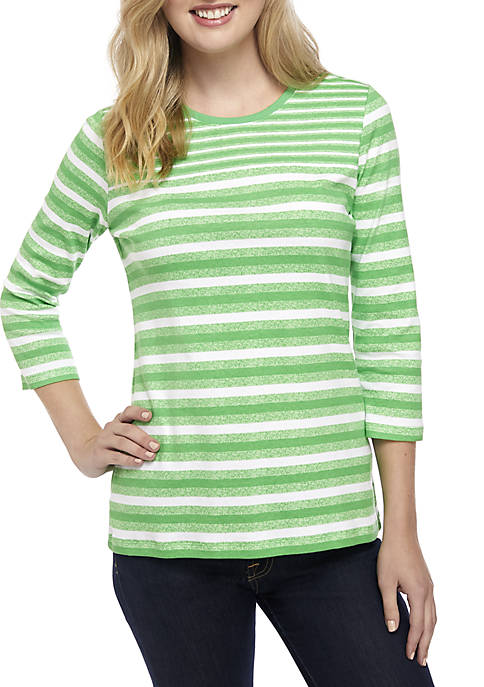 Kim Rogers® Striped Knit Top