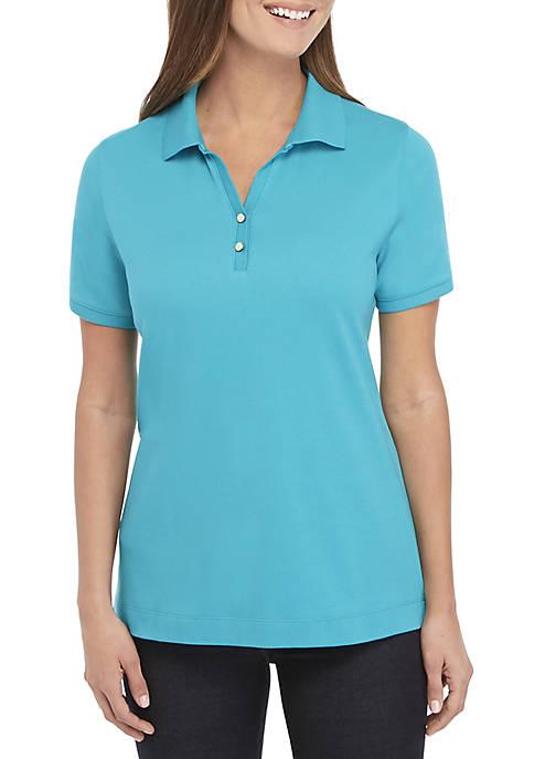 Kim Rogers® Short Sleeve Polo Top