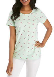 Kim Rogers® Short Sleeve Gelato Print Top