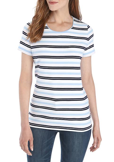 Kim Rogers® Short Sleeve Stripe Top