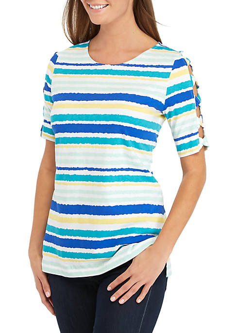 Short Ladder Sleeve Riptide Top