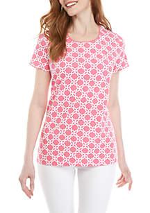 7ec009faa5a3c ... Kim Rogers® Short Sleeve Geo Print Top