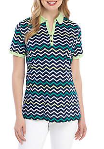 Kim Rogers® Short Sleeve Chevron Polo