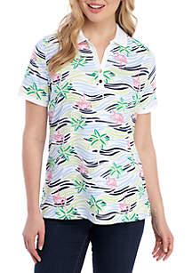 Kim Rogers® Short Sleeve Flamingo Polo