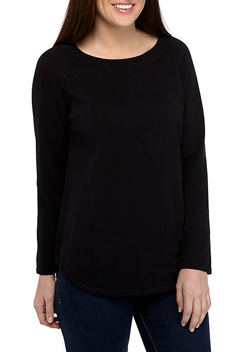 Kim Rogers® Womens Long Sleeve Crew Neck Sweater