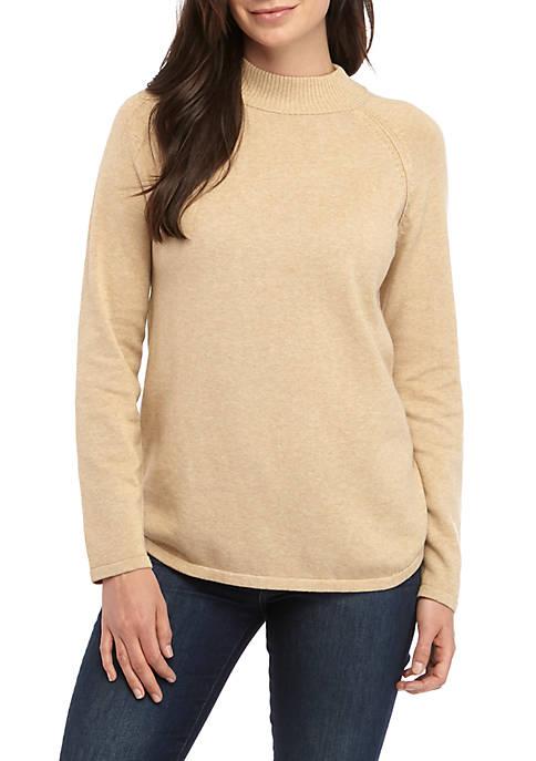 Kim Rogers® Long Sleeve Mock Neck Sweater