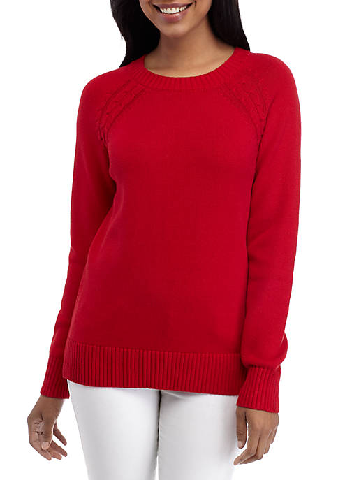 Kim Rogers® Long Sleeve Crew Neck Sweater