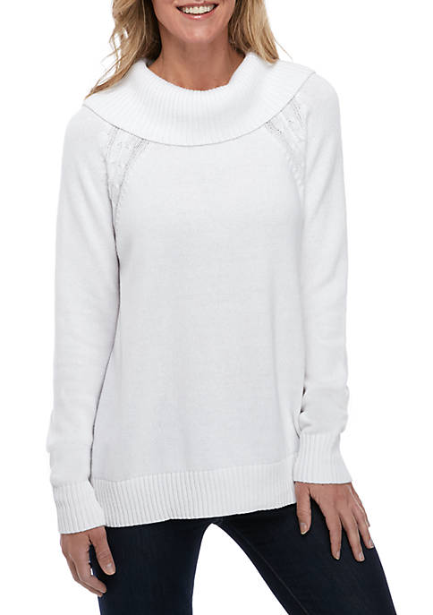 Kim Rogers® Long Sleeve Cowl Neck Sweater