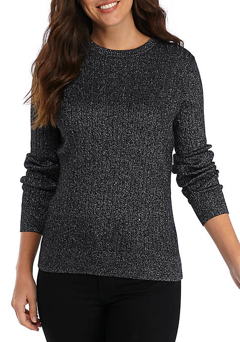 Cable Knit Lurex Sweater