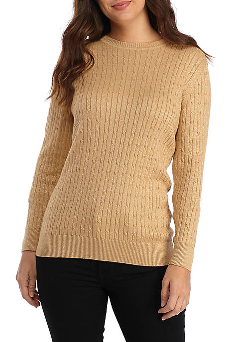 Kim Rogers® Cable Knit Lurex Sweater