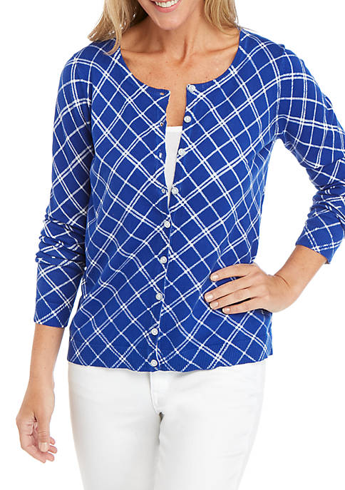 Kim Rogers® Long Sleeve Printed Button Up Cardigan
