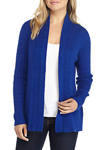 Long Sleeve Cable Cardigan Sweater