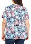 Plus Size Short Sleeve Firework T Shirt