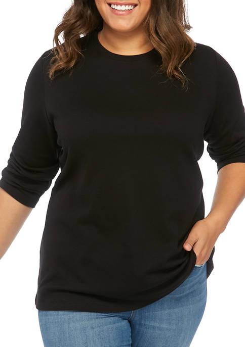 Kim Rogers® Plus Size Crew Neck Mega Solid
