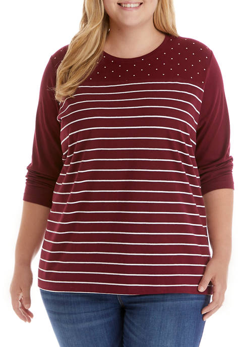 Kim Rogers® Plus Size Perfectly Soft 3/4 Sleeve