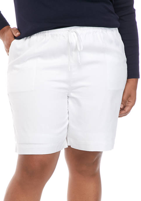 Kim Rogers® Plus Size Soft Pull On Shorts