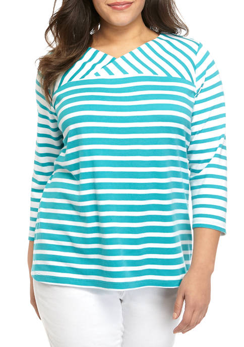 Plus Size Crossover Top