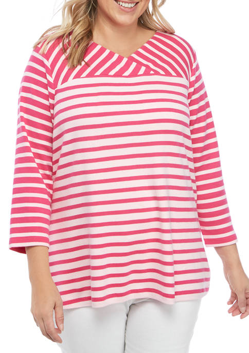 Kim Rogers® Plus Size Crossover Top