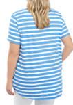 Plus Size Short Sleeve High Low Art T-Shirt