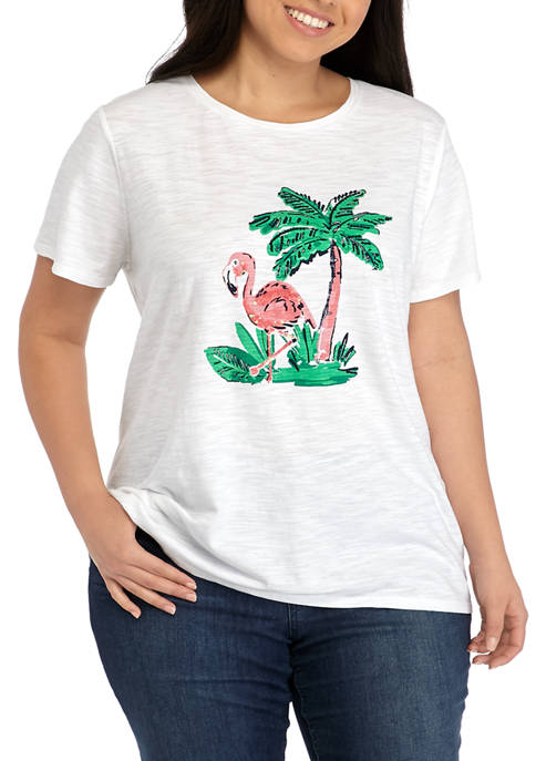 Kim Rogers® Plus Size Short Sleeve High Low