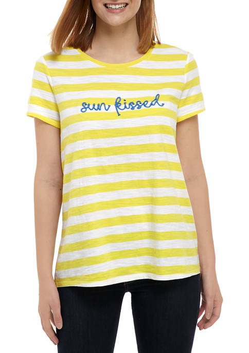 Kim Rogers® Plus Size High Low Short Sleeve