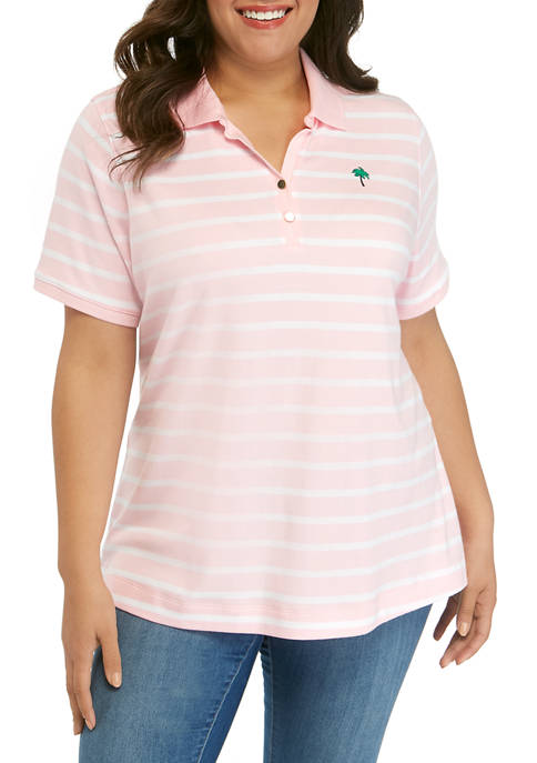 Kim Rogers® Plus Size Short Sleeve Yarn Dye