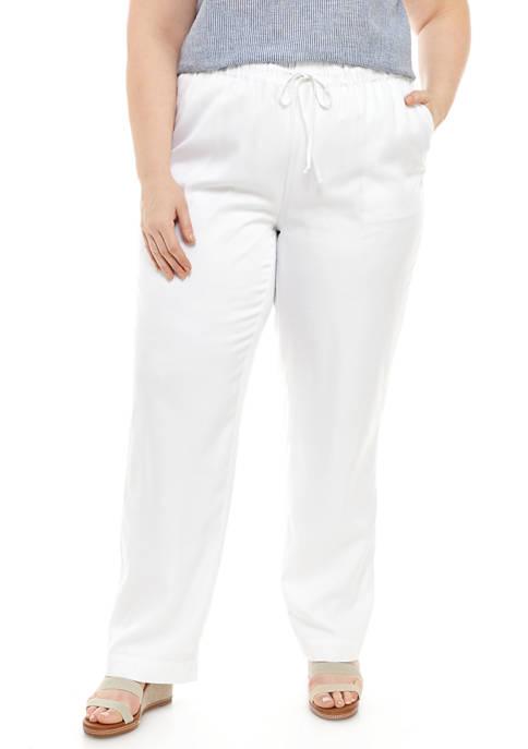 Kim Rogers® Plus Size Soft Pull On Pants