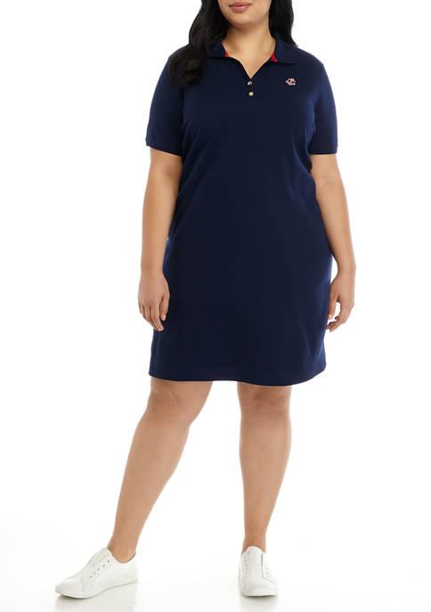 Kim Rogers® Plus Size Short Sleeve Polo Dress