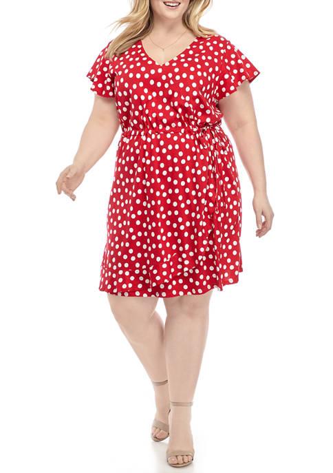 Kim Rogers® Plus Size Flutter Sleeve Knit Wrap