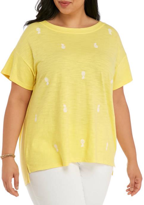 Kim Rogers® Plus Size Drop Shoulder Sleeve Art