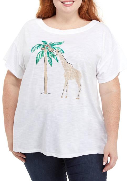 Kim Rogers® Plus Size Short Sleeve Drop Shoulder