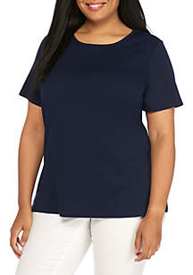 Plus Size Fashion Crew Neck Tee Shirt