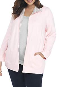 Plus Size Long Sleeve Jacket