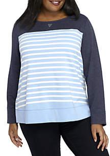 Plus Size Long Sleeve Crew Neck Sweatshirt