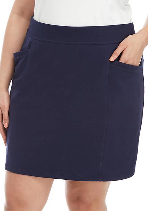 Kim Rogers® Plus Size Solid Knit Skort