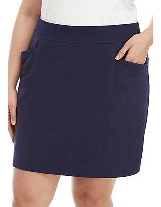 553f04de9c54c Kim Rogers® Plus Size Solid Knit Skort | belk