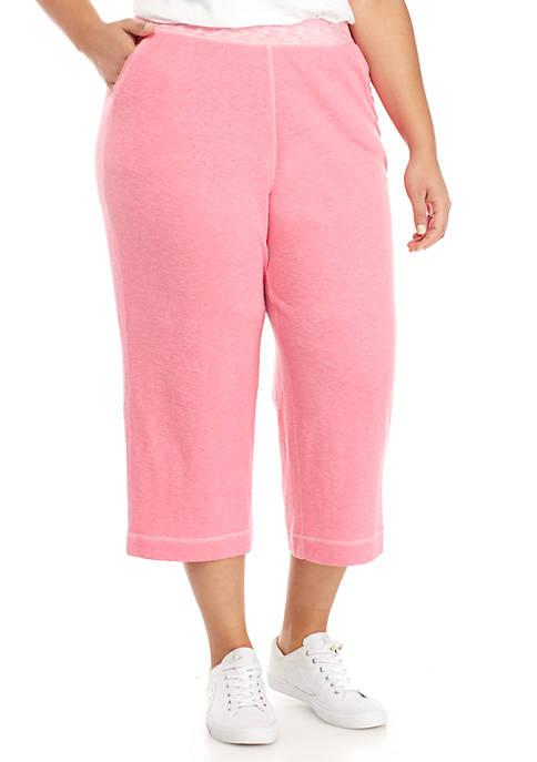 Kim Rogers® Plus Size Knit Capris