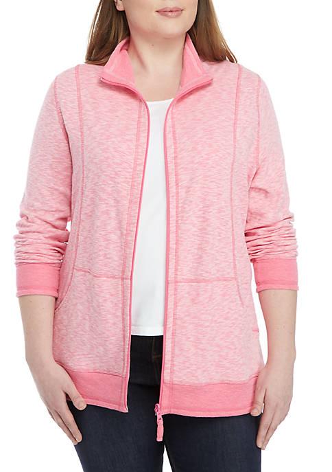 Kim Rogers® Plus Size Double Knit Sold Zip