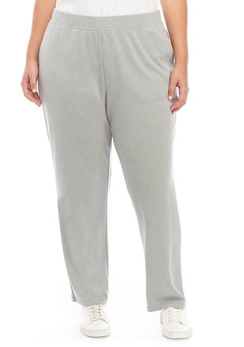 Plus Size Interlock Straight Short Pants